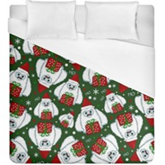 Yeti Xmas Pattern Duvet Cover (king Size)