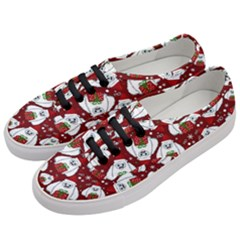 Yeti Xmas Pattern Women s Classic Low Top Sneakers by Valentinaart