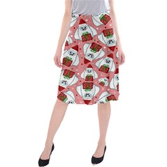 Yeti Xmas Pattern Midi Beach Skirt