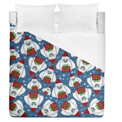 Yeti Xmas Pattern Duvet Cover (queen Size) by Valentinaart