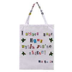 Santa s Note Classic Tote Bag by Valentinaart