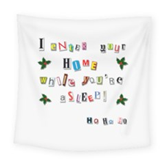 Santa s Note Square Tapestry (large) by Valentinaart