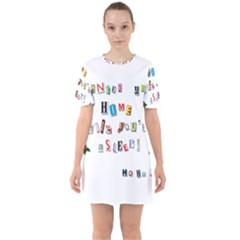 Santa s Note Sixties Short Sleeve Mini Dress