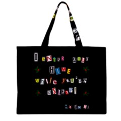 Santa s Note Zipper Mini Tote Bag