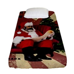 Karl Marx Santa  Fitted Sheet (single Size) by Valentinaart