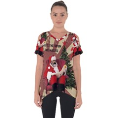 Karl Marx Santa  Cut Out Side Drop Tee
