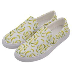 Chilli Pepers Pattern Motif Men s Canvas Slip Ons by dflcprints
