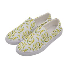 Chilli Pepers Pattern Motif Women s Canvas Slip Ons by dflcprints