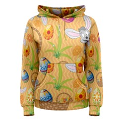 Easter Bunny And Egg Basket Women s Pullover Hoodie