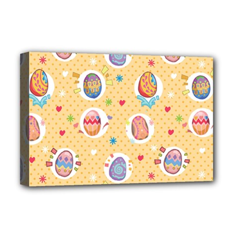 Fun Easter Eggs Deluxe Canvas 18  X 12   by allthingseveryone