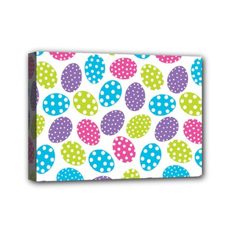 Polka Dot Easter Eggs Mini Canvas 7  X 5  by allthingseveryone