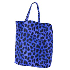 Blue Cheetah Print  Giant Grocery Zipper Tote by allthingseveryone