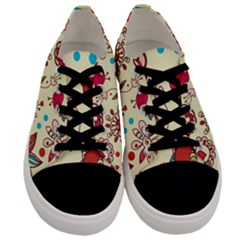 Spring Time Fun Men s Low Top Canvas Sneakers