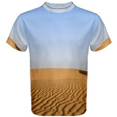 Desert Dunes With Blue Sky Men s Cotton Tee