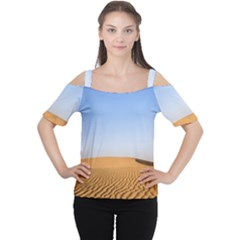 Desert Dunes With Blue Sky Cutout Shoulder Tee by Ucco