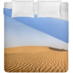 Desert Dunes With Blue Sky Duvet Cover Double Side (king Size) by Ucco