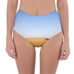 Desert Dunes With Blue Sky Reversible High-waist Bikini Bottoms