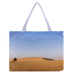 Desert Dunes With Blue Sky Zipper Medium Tote Bag by Ucco