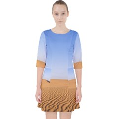 Desert Dunes With Blue Sky Pocket Dress by Ucco