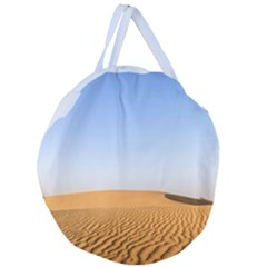 Desert Dunes With Blue Sky Giant Round Zipper Tote by Ucco