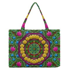 Bohemian Chic In Fantasy Style Zipper Medium Tote Bag by pepitasart