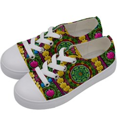 Bohemian Chic In Fantasy Style Kids  Low Top Canvas Sneakers by pepitasart