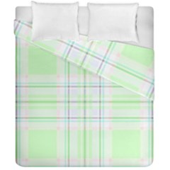 Green Pastel Plaid Duvet Cover Double Side (california King Size) by allthingseveryone