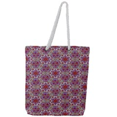 Star And Crystal Shapes 01 Full Print Rope Handle Tote (large)
