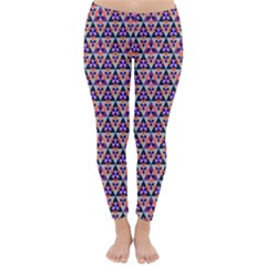 Snowflake And Crystal Shapes 5 Classic Winter Leggings by Cveti