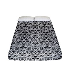 Hand Drawing Tribal Black White Fitted Sheet (full/ Double Size) by Cveti