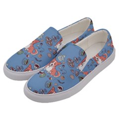 Dog Corgi Pattern Men s Canvas Slip Ons by Celenk
