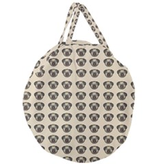 Puppy Dog Pug Pup Graphic Giant Round Zipper Tote