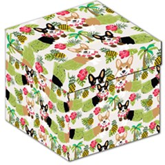 Hula Corgis Fabric Storage Stool 12