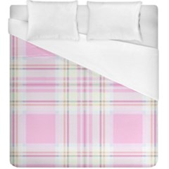 Pink Pastel Plaid Duvet Cover (king Size) by allthingseveryone