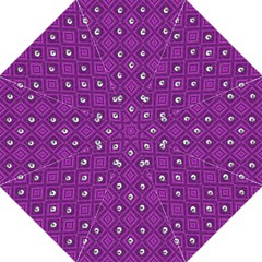 Funny Little Skull Pattern, Purple Straight Umbrellas by MoreColorsinLife