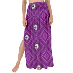 Funny Little Skull Pattern, Purple Maxi Chiffon Tie Up Sarong by MoreColorsinLife