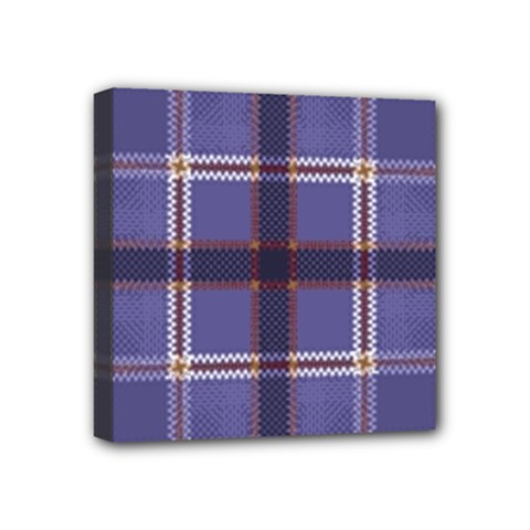 Purple Heather Plaid Mini Canvas 4  X 4  by allthingseveryone