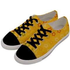 Spray Stars Pattern B Men s Low Top Canvas Sneakers by MoreColorsinLife