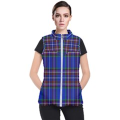 Bright Blue Plaid Women s Puffer Vest by allthingseveryone