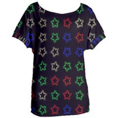 Spray Stars Pattern A Women s Oversized Tee by MoreColorsinLife