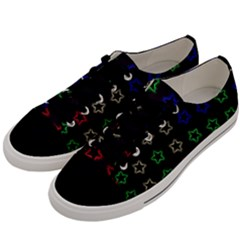 Spray Stars Pattern A Men s Low Top Canvas Sneakers by MoreColorsinLife