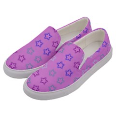 Spray Stars Pattern C Men s Canvas Slip Ons by MoreColorsinLife