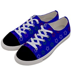 Spray Stars Pattern E Women s Low Top Canvas Sneakers by MoreColorsinLife