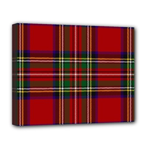 Red Tartan Plaid Deluxe Canvas 20  X 16   by allthingseveryone