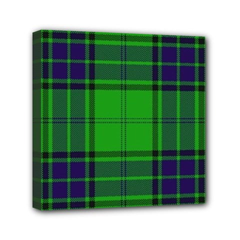 Green And Blue Plaid Mini Canvas 6  X 6  by allthingseveryone