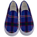 Blue Heather Plaid Kids  Canvas Slip Ons View1