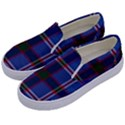 Blue Heather Plaid Kids  Canvas Slip Ons View2