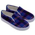 Blue Heather Plaid Kids  Canvas Slip Ons View3