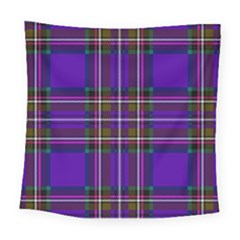 Purple Tartan Plaid Square Tapestry (large) by allthingseveryone