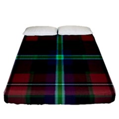 Purple And Red Tartan Plaid Fitted Sheet (queen Size) by allthingseveryone